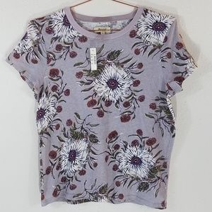 Madewell Floral Cotton Tee Size M